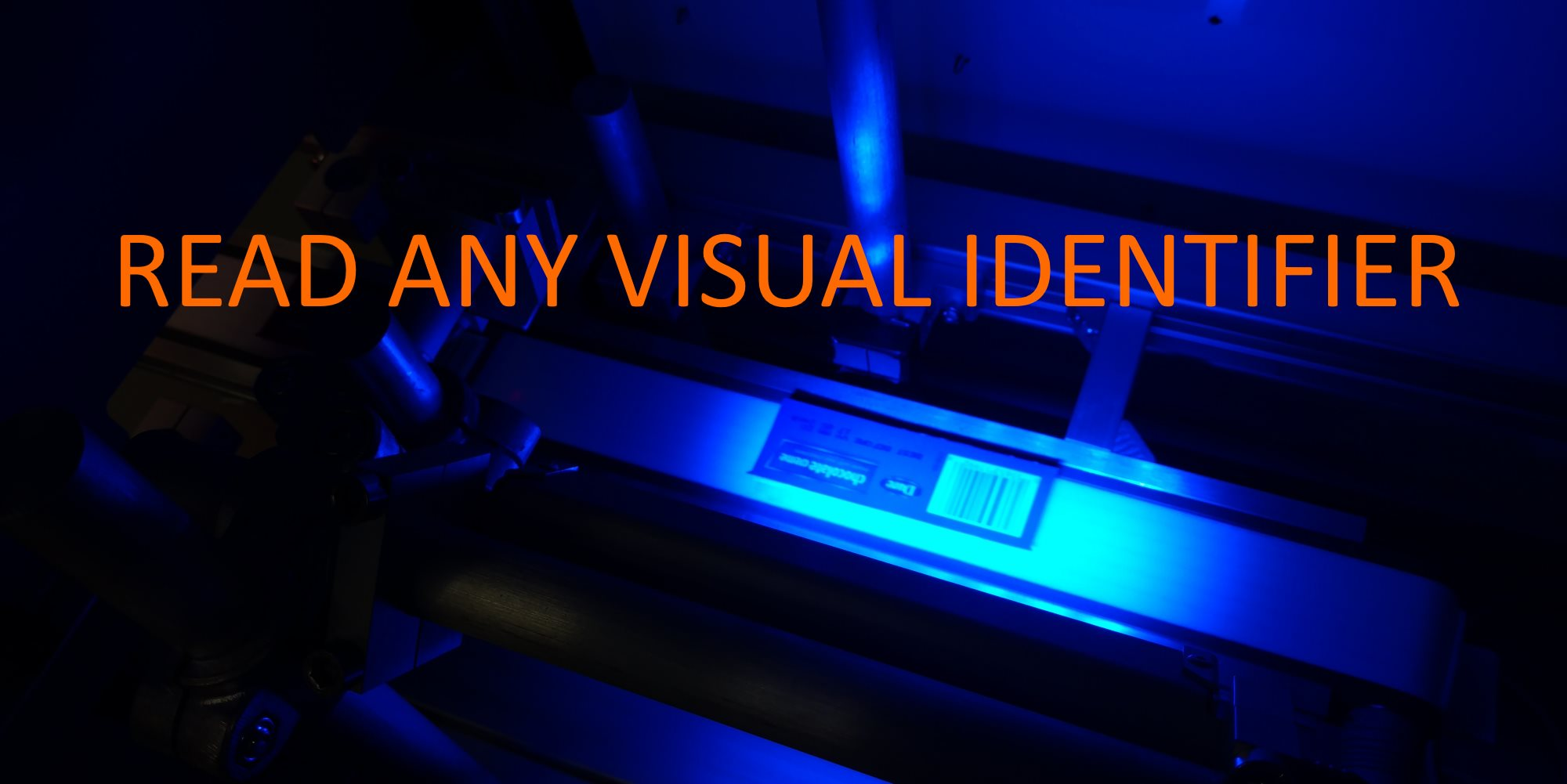 Read any visual identifier: text, barcode, patterns, color
